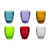 Sada 6 barevných sklenic Villad'Este Acqua, 350ml