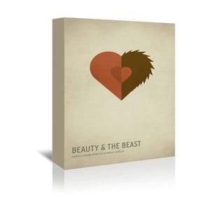 Obraz na plátně Beauty and the Beast With Text od Christiana Jacksona