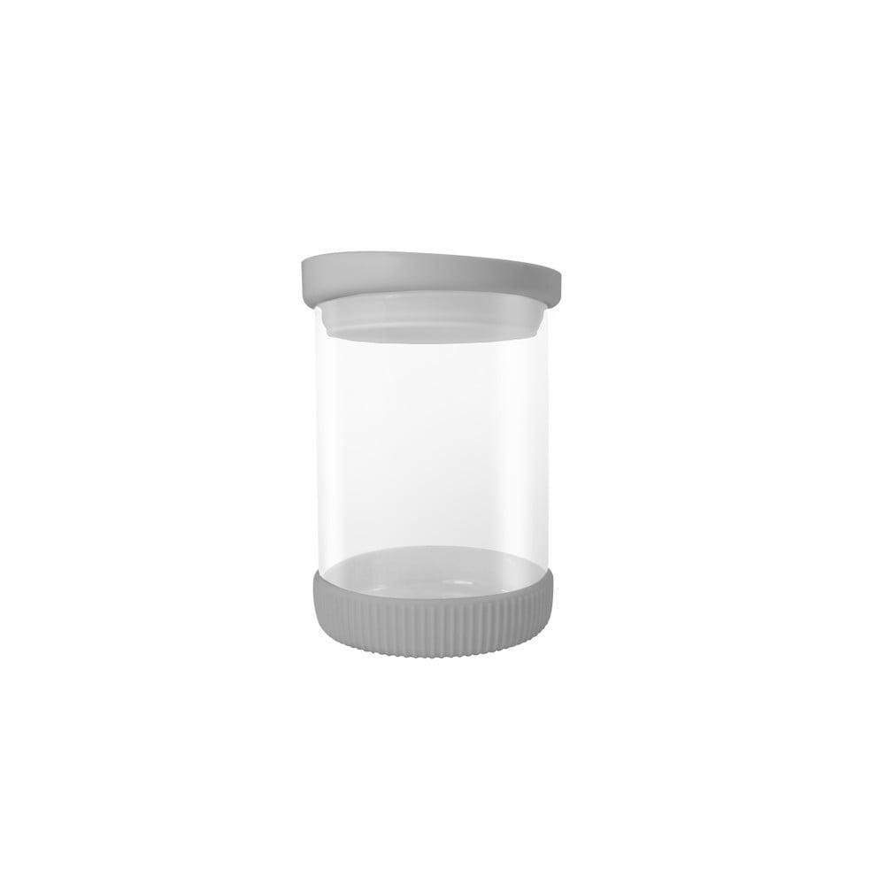 Skleněná dóza s šedým víkem JOCCA Container, 480ml