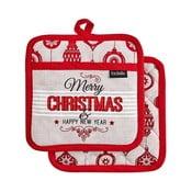 Set 2 șervete termice pentru bucătărie Ladelle Merry Christmas