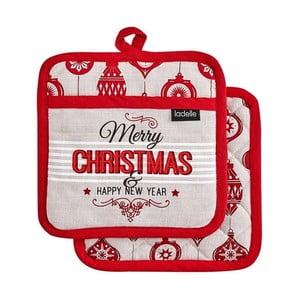 Sada 2 podložek pod horké nádoby s vánočním motivem Ladelle Merry Christmas