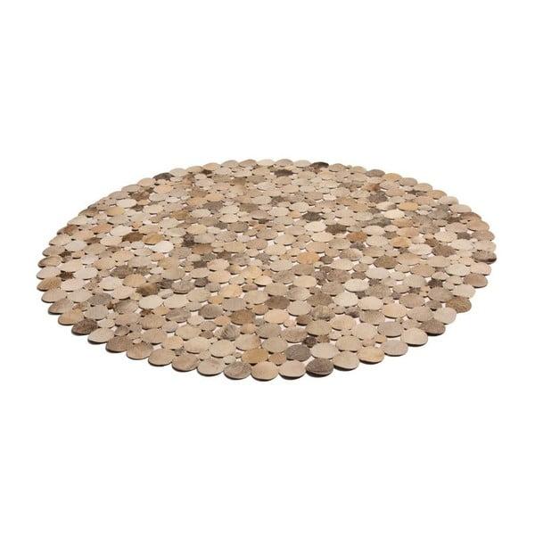 Kožený koberec Palazzo 110 cm, hnědý/přírodní