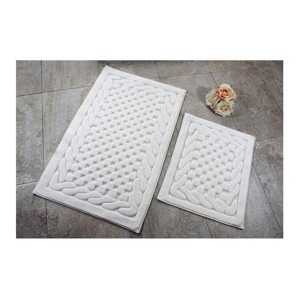 Zestaw 2 kremowych dywaników łazienkowych Bambi