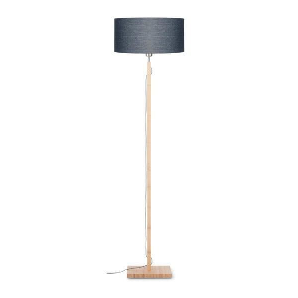 Fuji állólámpa sötétszürke búrával és bambusz lámpatesttel - Good&Mojo