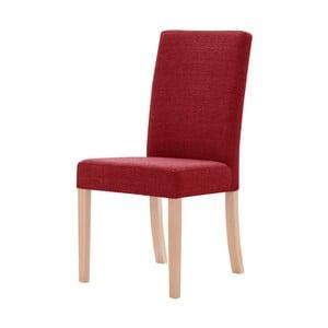 Červená židle s hnědými nohami Ted Lapidus Maison Tonka