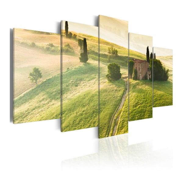 Vícedílný obraz na plátně Artgeist Green Tuscany, 100 x 50 cm