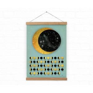 Nástěnný kalendář s fázemi Měsíce na rok 2017 Lunar