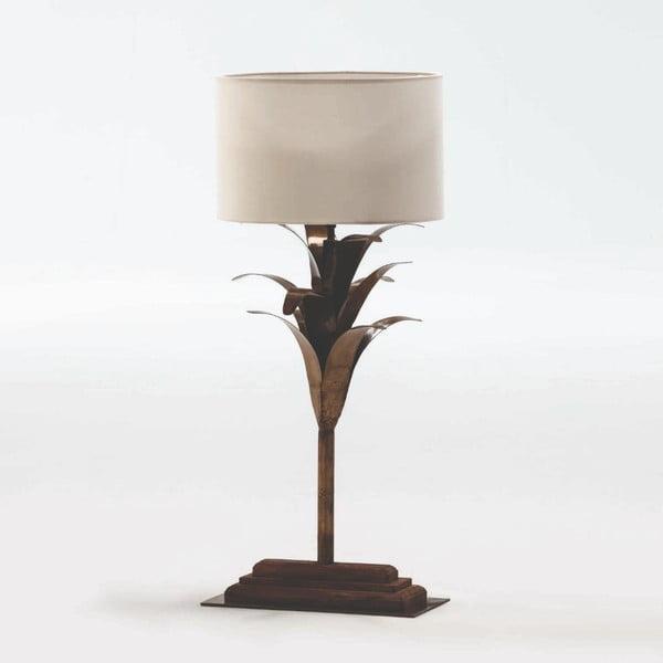 Kovová stolní lampa s bílým stínidlem Thai Natura, výška 57cm