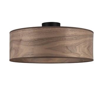 Plafonieră cu abajur din lemn de nuc Sotto Luce TSURI XL poza