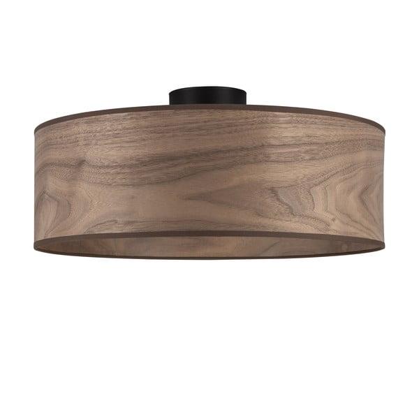Stropní svítidlo se stínidlem ze dřeva ořechu Sotto Luce TSURI XL