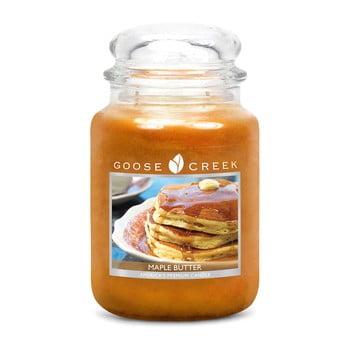 Lumânare parfumată în recipient de sticlă Goose Creek Maple Butter, 150 ore de ardere