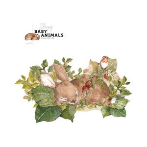 Nástěnná samolepka Dekornik My Little Wild Rabbit, 140x80cm