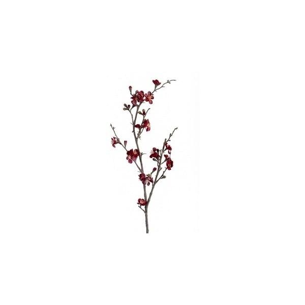 Umělá květina Tmavě červená větev