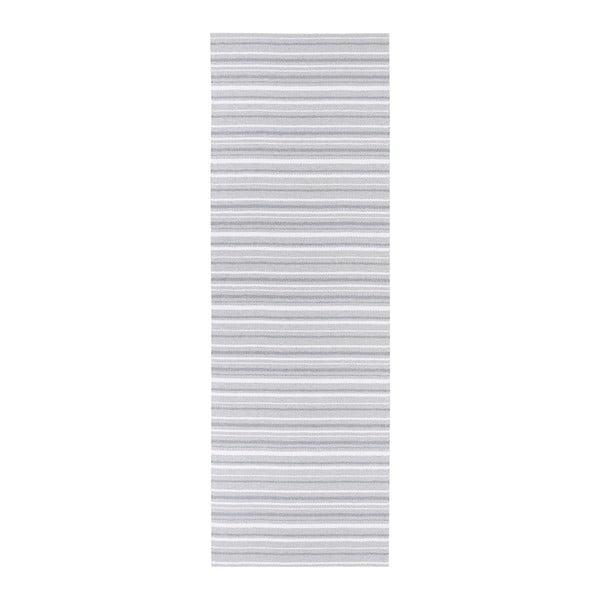 Šedo-bílý běhoun vhodný do exteriéru Narma Hullo, 70x350cm