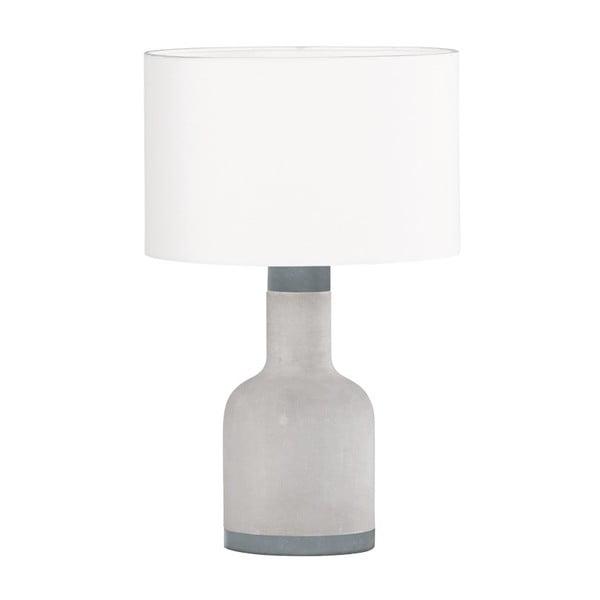 Šedá stolní lampa Trio Rodney, výška 38 cm