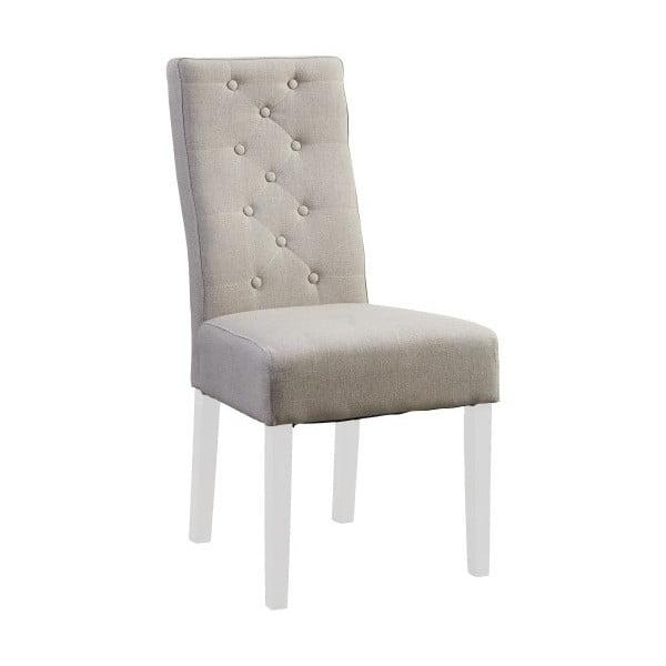 Béžová židle s bílými nohami Canett Tango