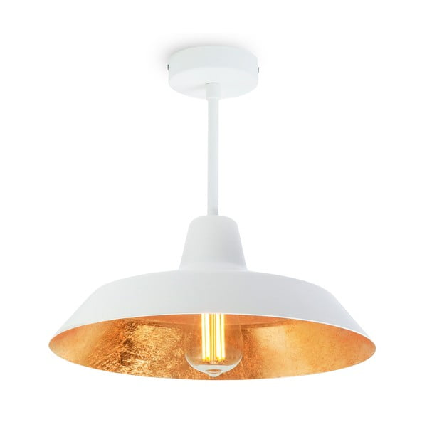 Bílo-zlaté stropní svítidlo Bulb Attack Cinco