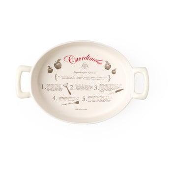 Tavă ovală din ceramică Brandani Batticuore, 34,5 x 22 cm, bej de la Brandani