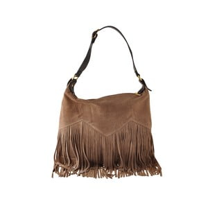 Béžová kožená kabelka Florence Bags Petunia