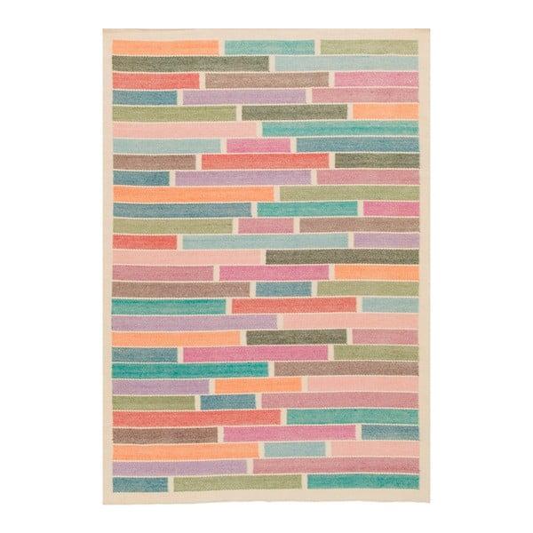 Ručně tkaný vlněný koberec Rubina White, 170x240cm