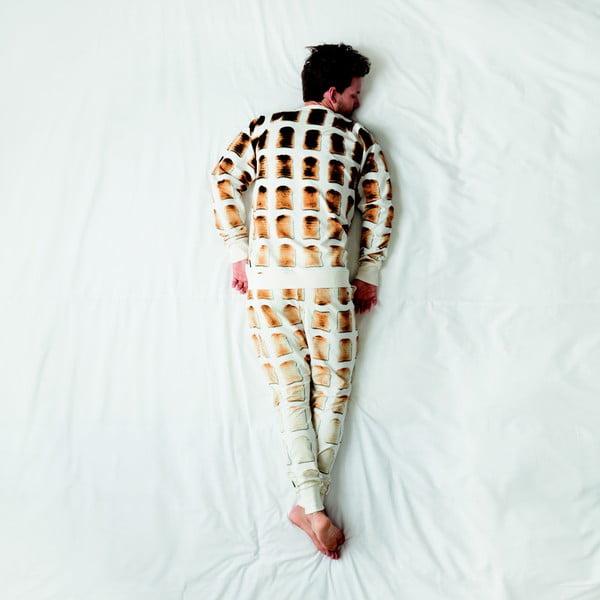 Pánské bílé kalhoty Snurk Toast, vel. M