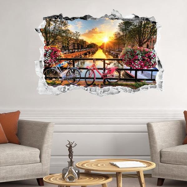 Autocolant 3D pentru perete Ambiance Sunrise over Amsterdam