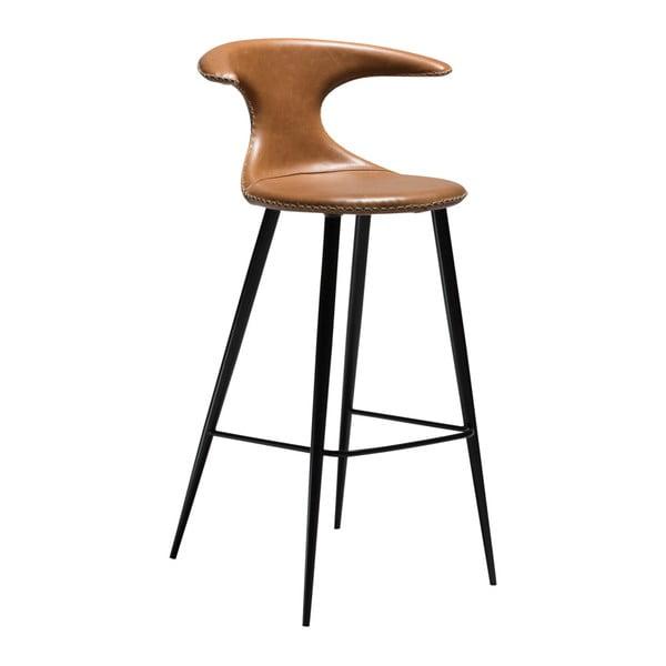 Scaun bar, piele, DAN-FORM Denmark Flair, maro
