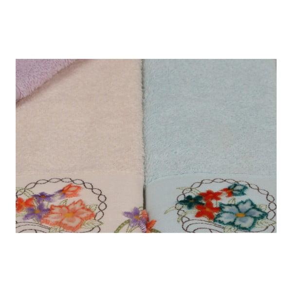Sada 6 barevných ručníků z čisté bavlny Poppy, 30 x 50 cm