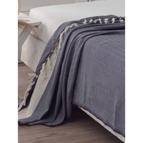 Přehoz přes postel Baliksirti Dark Blue, 200x240 cm