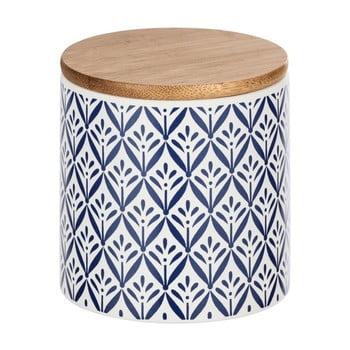 Cutie depozitare din ceramică cu capac din bambus Wenko Lorca, 450 ml imagine