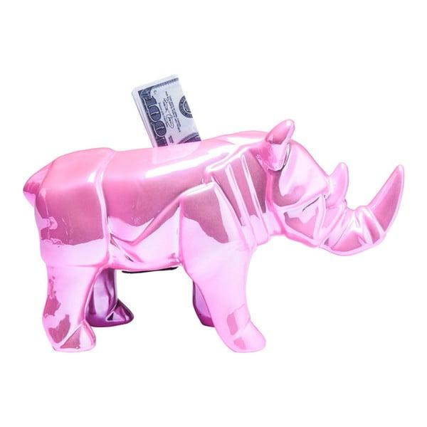 Růžová kasička Kare Design Rhino Glossy