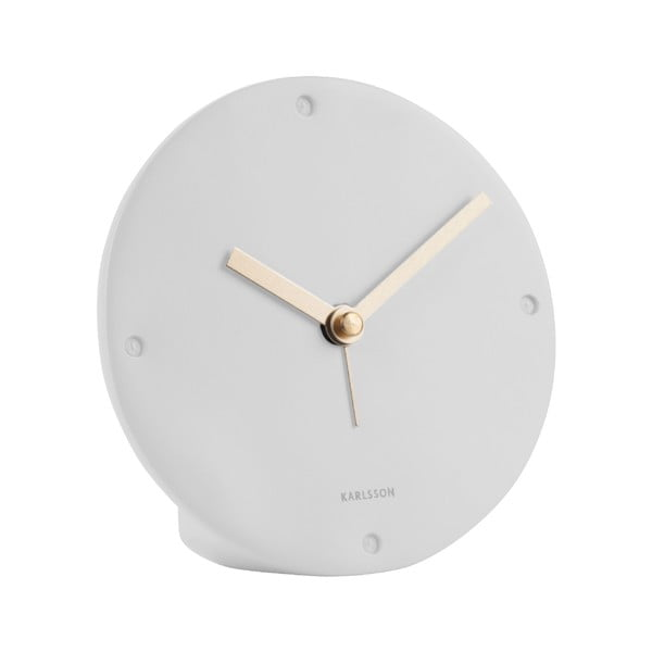 Ceas cu alarmă Karlsson Mantel, alb, ø 12 cm
