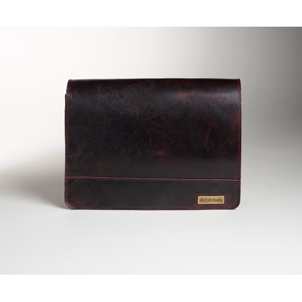 Pánská kožená taška Damson Messenger, 39 cm