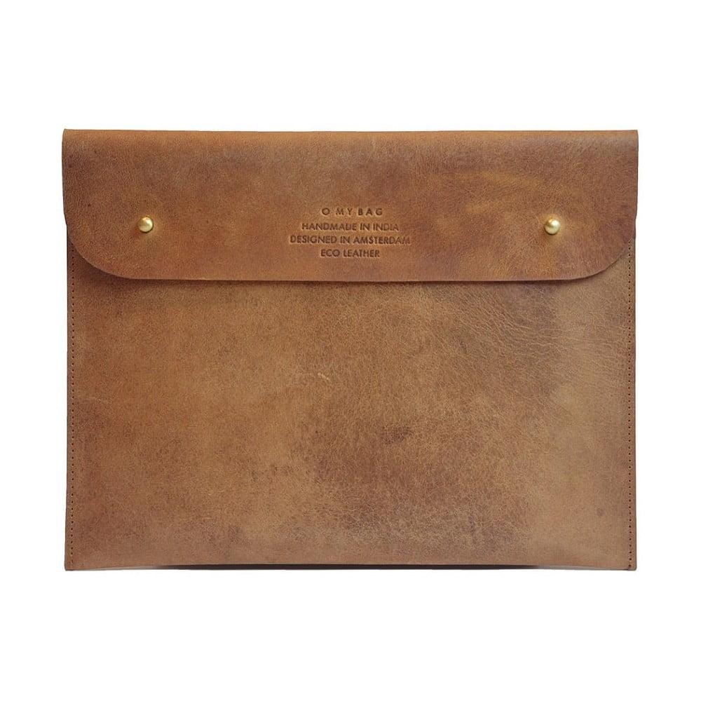 Hnědé kožené pouzdro na iPad O My Bag Sleeve
