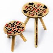 Sada 2 ručně malovaných stoliček Iara