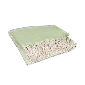 Zelená hammam osuška Yummy Green, 90x190cm