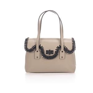 Béžová kožená kabelka Giulia Massari Farah