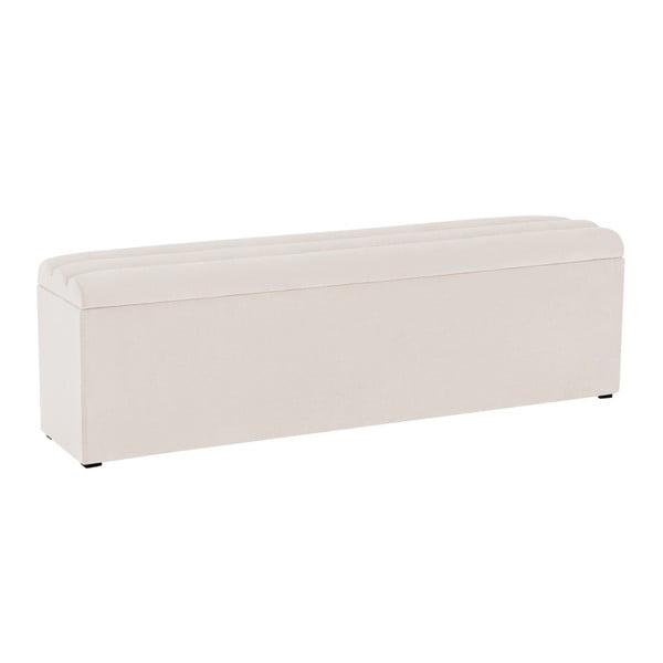 Los Angeles krémes fehér pad tárolóval, szélessége 140 cm - Cosmopolitan Design