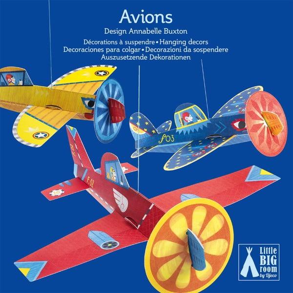 Závesné dekoratívne lietadlá z pevnejšieho papiera Djeco