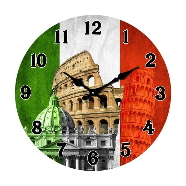 Skleněné hodiny V Itálii, 34 cm