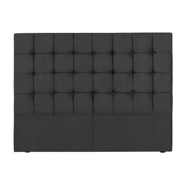 Tăblie pat Kooko Home Hasso, 120 x 140 cm, gri închis