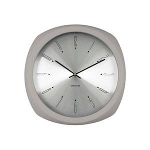 Šedé hodiny Present Time Aesthetic Square