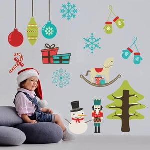 Samolepka na stěnu Symboly Vánoc, 90x60 cm