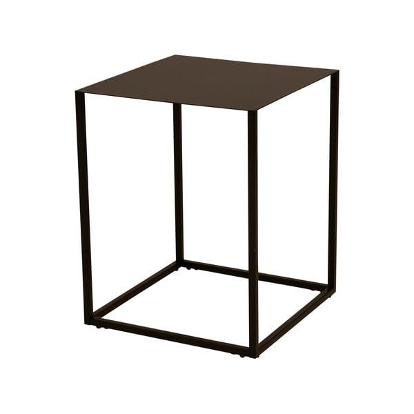 Czarny metalowy stolik Canett Lite, 40x40 cm
