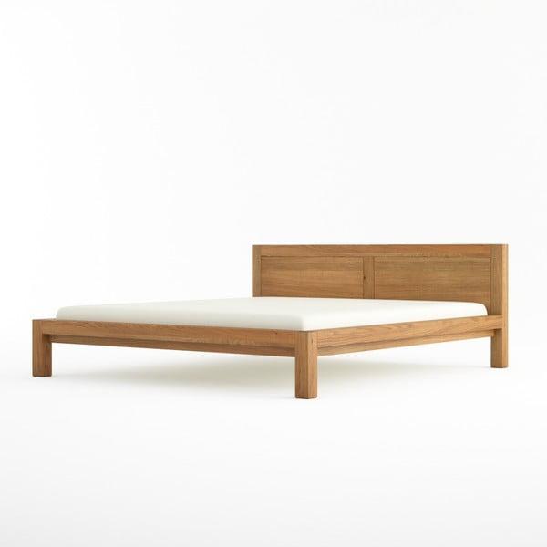 Pat dublu din lemn masiv de stejar Javorina Direct, 180 x 200 cm