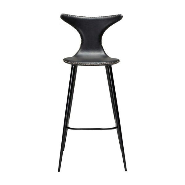 Černá barová židle z eko kůže DAN–FORM Denmark Dolphin, výška 107 cm