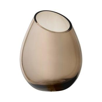 Vază din sticlă Blomus Raindrop, înălțime 24 cm, maro