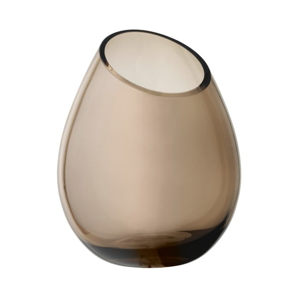 Hnedá sklenená váza Blomus Raindrop,výška24cm