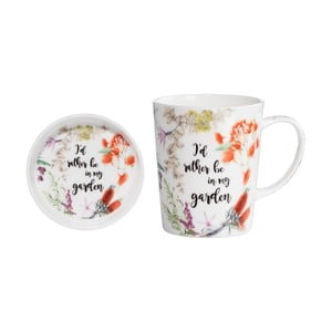 Set hrnku s podnosem z kostního porcelánu Maxwell & Williams Rather Be, 400 ml
