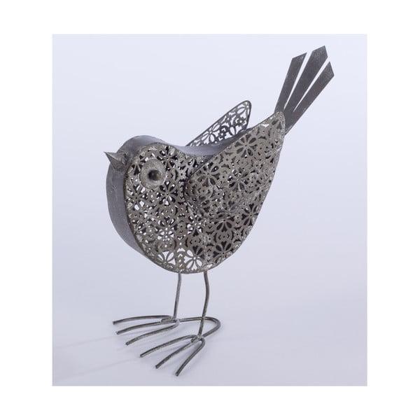 Dekorativní kovový ptáček Bird, 23 cm